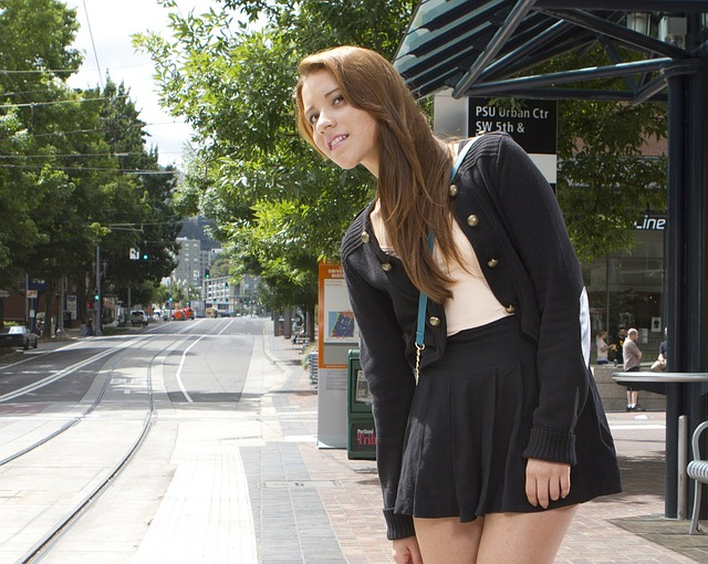 femme jupe noir