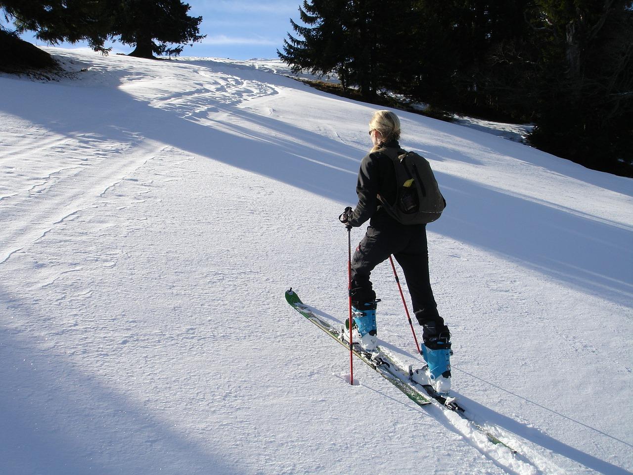 Être élégante sur la piste de ski